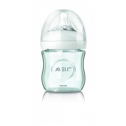 Philips Avent Philips AVENT - Biberon Naturel en Verre 4oz/Natural Single Glass Bottle 4oz