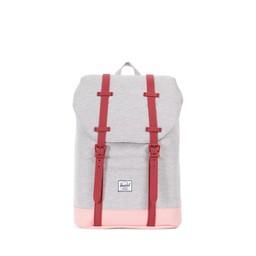 Herschel Herschel - Sac à Dos pour Junior Retreat/Retreat Backpack Youth, Gris Pâle et Rouge/Light Grey and Red