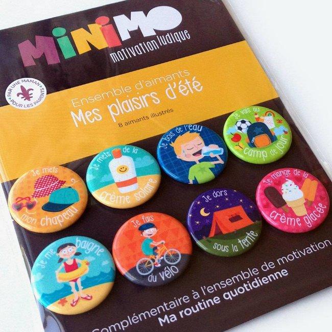 Minimo Minimo - Motivation Magnets Set, My Summer Pleasures