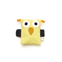 Raplapla Raplapla - Bébé Hibouillotte/Baby Owl Soother, Jaune/Yellow