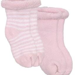 Kushies Kushies - Ensemble de 2 Chaussettes pour Nouveau-Né/2 Pack of Newborn Socks , Rose/Pink