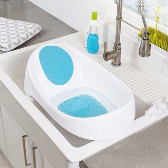 Boon Baignoire de Boon/Boon Soak Bathtub, Bleu et Blanc/Blue and White