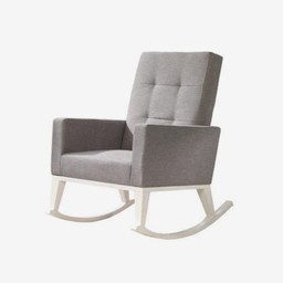Natart Juvenile Natart Nova - Chaise Berçante Recouvrement en Lin Tissé/Rocker Linen Weave, Fog/Brouillard
