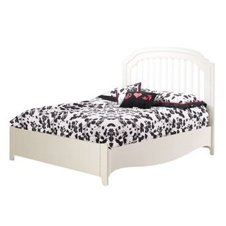 Natart Juvenile Natart Allegra - Lit Double avec Pied de Lit à Profil Bas/Double Bed with Low Profile Footboard, Blanc Français/French White