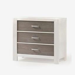 Natart Juvenile Natart Rustico Moderno - Commode à 3 Tiroirs/3 Drawer Dresser, Blanc-Hibou/White-Owl