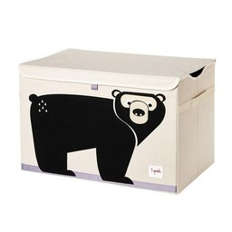3 sprouts 3 Sprouts - Coffre à Jouets/Toy Chest, Ours Noir/ Black Bear