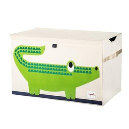 3 sprouts 3 Sprouts - Coffre à Jouets/Toy Chest,Crocodile Vert / Green Crocodile