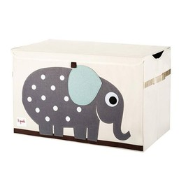 3 sprouts 3 Sprouts - Coffre à Jouets/Toy Chest, Éléphant Gris/Grey Elephant