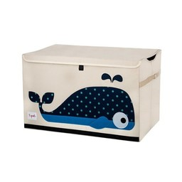 3 sprouts 3 Sprouts - Coffre à Jouets/Toy Chest, Baleine Bleu/Blue Whale
