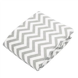 Kushies Kushies - Couvre-Matelas à Langer en Flanelle/Flannel Change Pad Fitted Sheet, Chevron Gris/Grey Chevron