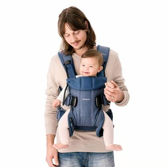 BabyBjörn BabyBjörn - Porte-Bébé One/One Baby Carrier, Denim Classique et Bleu Minuit/Classic Denim and Midnight Blue