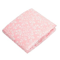 Kushies Kushies - Couvre-Matelas à Langer en Flanelle/Flannel Change Pad Fitted Sheet, Baies Roses/Pink Berries