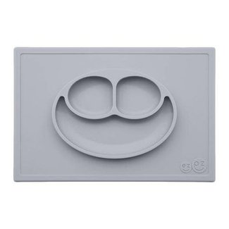 Ezpz EzPz - Happy Mat All-in-one Placemat and Plate, Pewter