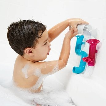 Boon Boon - Tubes Building Bath Toy, Pink Multi