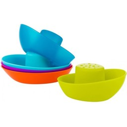 Boon Boon - Fleet Stacking Boats Bath Toys, Orange Multi