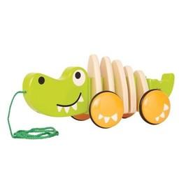 Hape Jouet à Tirer Walk-A-Long de Hape/Hape Walk-A-Long Push Toy, Croc