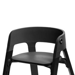 Stokke Stokke Steps - Assise pour Chaise Haute/High Chair Seat, Noir/Black