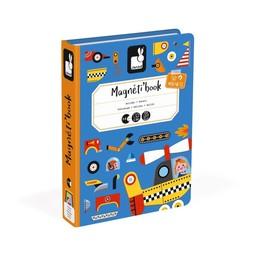 Janod Janod - Livre Magnétique/Magnetibook, Bolides/Racers