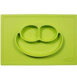 Ezpz EzPz - Napperon et Assiette Tout-en-un Happy Mat/Happy Mat All-in-one Placemat and Plate, Lime
