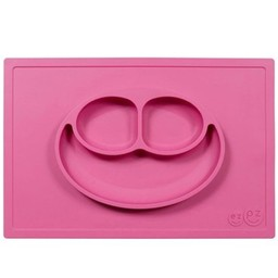Ezpz Napperon et Assiette Tout-en-un Happy Mat d'Ezpz/Happy Mat All-in-one Placemat and Plate by Ezpz, Rose/Pink