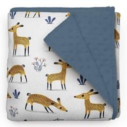 Olé Hop Olé Hop - Couverture en Peluche/Minky Blanket, Cerfs/Deer