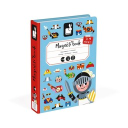 Janod Janod - Livre Magnétique/Magnetibook, Garçon/Boy