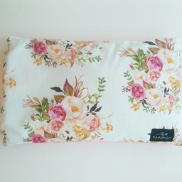 Maovic Maovic - Oreiller de Sarrasin/Buckwheat Pillow, Fleurs Rose/Pink Flowers