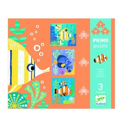 Djeco Djeco - Primo Puzzle/Primo Puzzle, Poissons/Fishes