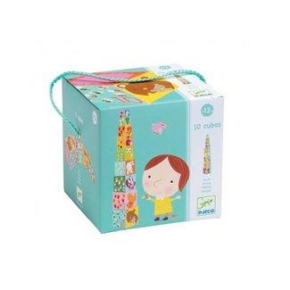 Djeco Djeco- 10 Cubes Gigognes Forêt/10 Nestling Cubes Forest