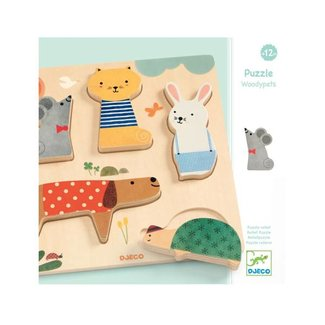 Djeco Djeco- Casse-Tête en Bois/ Wood Puzzle, Woodypets