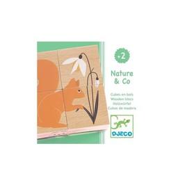 Djeco Djeco - Cubes en Bois Nature&Co/Nature&Co Wooden Blocs