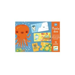 Djeco Casse-tête Duo Cache-cache de Djeco/Hide and Seek Puzzle Duo by Djeco