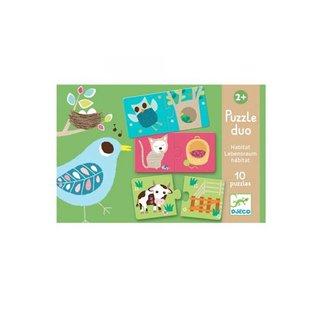 Djeco Djeco - Habitat Puzzle Duo