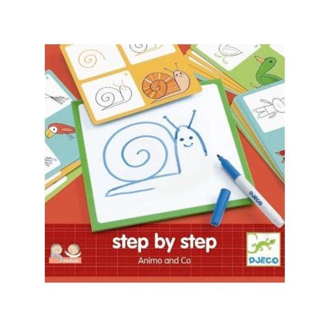 Djeco Eduludo Step by Step de/by Djeco, Animaux/Animals