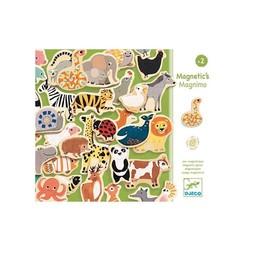 Djeco Aimants pour le Frigo en Bois Magnetic's Magnimo de Djeco/Djeco's Magnimo Wooden Fridge Magnets