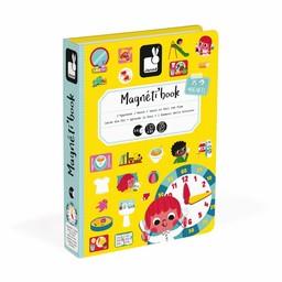 Janod Janod - Livre Magnétique/Magnetibook, Apprendre à Lire l'Heure/Learn to Tell Time