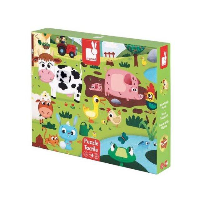 Janod Janod - Tactiles Puzzle Farm Animals