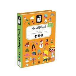 Janod Janod - Livre Magnétique/Magnetibook, 4 Saisons, Nouvelle Version/4 Seasons, New Version