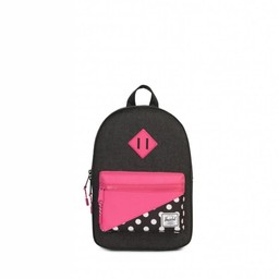 Herschel Herschel - Sac à Dos pour Enfants Héritage/Heritage Kids Backpack, Pois Rose/Polka Dots Pink