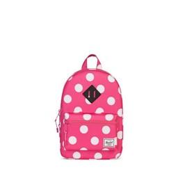 Herschel Herschel - Sac à Dos pour Enfants Héritage/Heritage Kids Backpack, Rose Pois Blancs/Pink White Polka Dots
