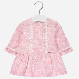 Mayoral Mayoral - Robe Rose à Volants/Ruffled Pink Dress