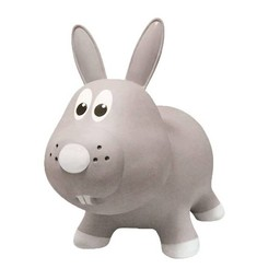 Farm Hoppers Ballon Sauteur de Farm Hoppers/Farm Hoppers Jumping Animals, Lapin - Gris/Rabbit - Gray