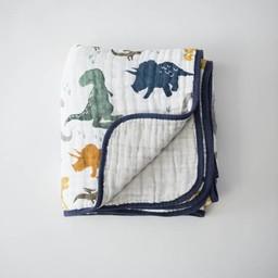Little Unicorn Couette en Mousseline de Coton de Little Unicorn/Little Unicorn Cotton Quilt, Dinosaures/Dino Friends