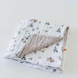 Little Unicorn Couette en Mousseline de Coton de Little Unicorn/Little Unicorn Cotton Quilt, Amis de la Forêt/Forest Friends