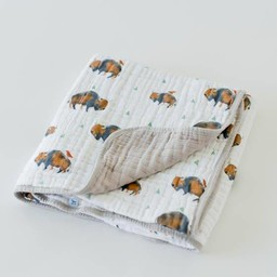 Little Unicorn Little Unicorn - Couette en Mousseline de Coton/Cotton Quilt, Bison