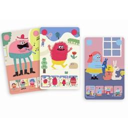 Djeco Djeco- Jeu de 7 Familles des Petits Mini Monster/Game of 7 Little Mini Monster Families
