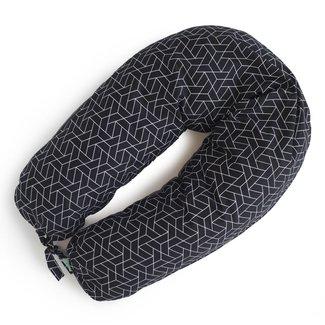Coussins Etc. Coussins Etc - Big Cushion of Microbeads, Black Geo