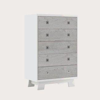 Dutailier Dutailier Pomelo - 5 Drawer Dresser, Rustic Grey