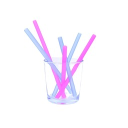 Silikids Silikids - Paquet de 6 Pailles en Silicone/Silicone 6 Pack Straws, Berry Cobalt