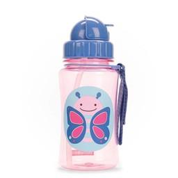 Skip Hop Skip Hop - Bouteille avec Paille Zoo/Zoo Straw Bottle, Papillon/Butterfly